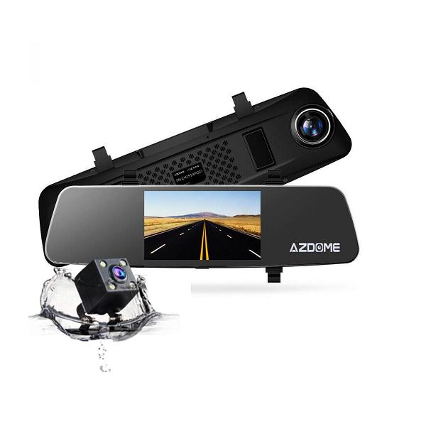 Camera hành trình gương PG01+ Cam lùi giá rẻ bảo hành 12 tháng