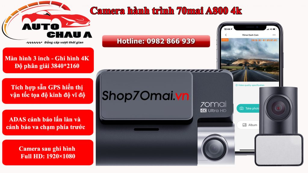 camera hanh trinh xiaomi a800 4k
