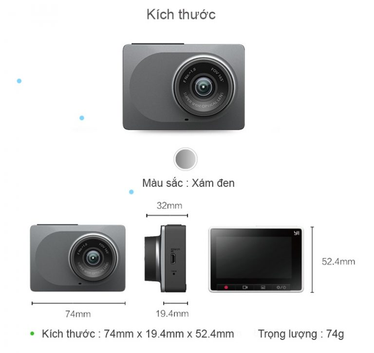 Camera hành trình Xiaomi 70mai Yi 2K
