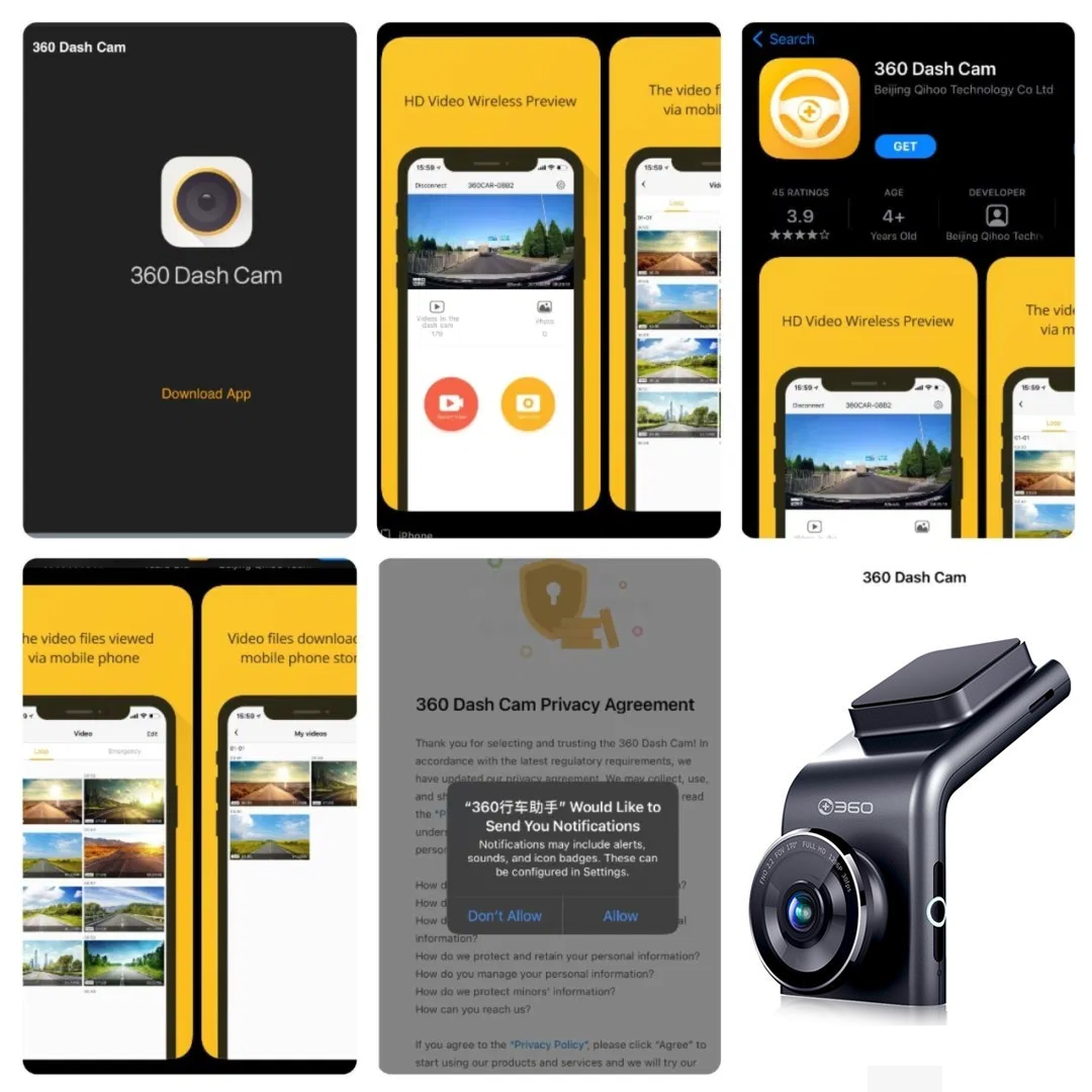 Ứng dụng của camera hành trình Qihoo -G300H