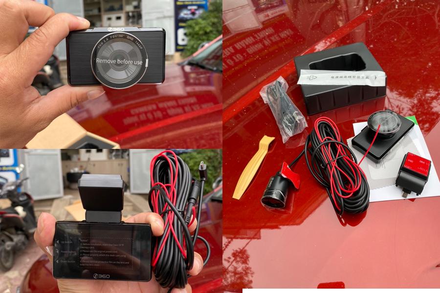 Hình ảnh thực tế camera hành trình Qihoo G500H-1