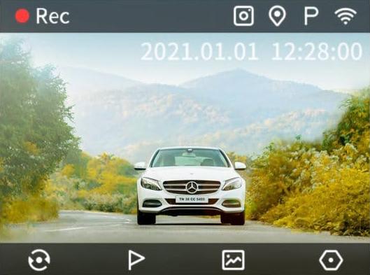 Hình ảnh ghi hình phía sau xe