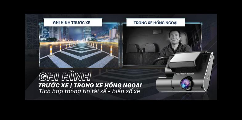 VIETMAP VM300 GHI HÌNH TOÀN CẢNH TRƯỚC & TRONG XE