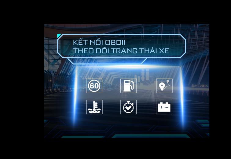 HUD H1AS kết nối cổng OBD II